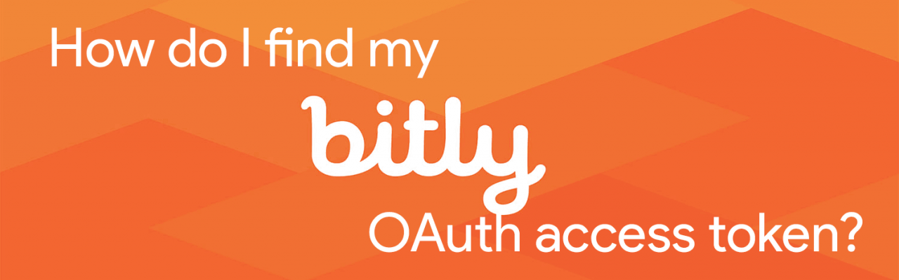 How do I find my Bitly OAuth access token?