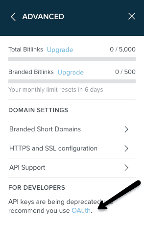 How do I find my Bitly OAuth access token? 1