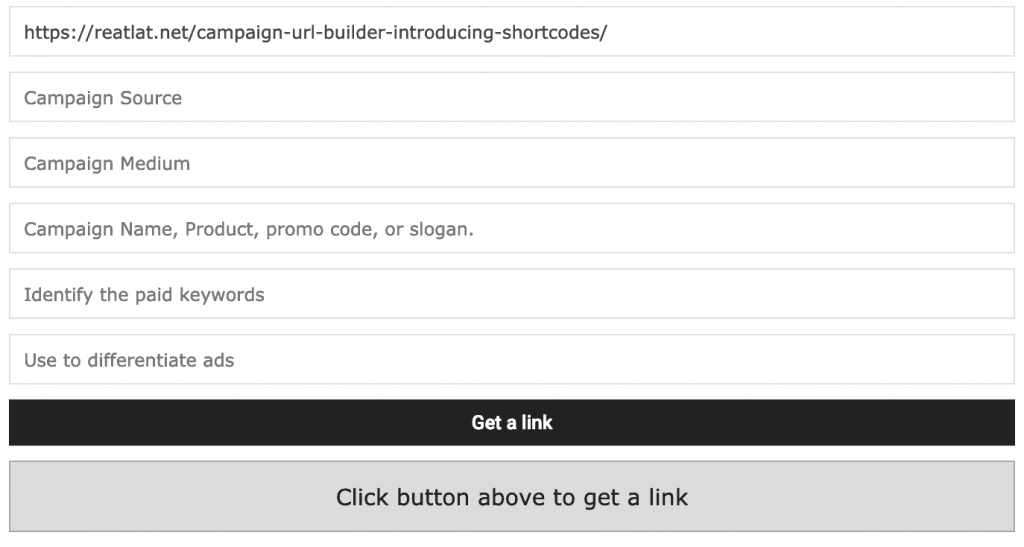 Campaign URL Builder: Introducing the Shortcodes 2